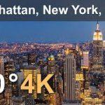 アメリカ合衆国ニューヨーク州マンハッタンを空から撮影したVR動画