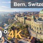 世界文化遺産 スイスの首都ベルンを空中から撮影したVR動画