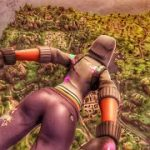 人気ゲーム [Fortnite]のスカイダイビングシーンのVR動画