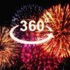HAPPY NEW YEARの花火をVR動画で鑑賞