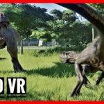 ゲーム、ジュラシック・ワールド・エボリューションの恐竜VR動画