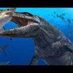 海の恐竜プレシオサウルスを説明してくれるVR動画