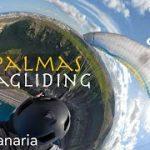 大空を飛んで楽しむパラグライディングのVR動画