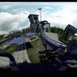 スタートからいきなり始まるジェットコースターの VR動画
