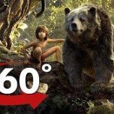 映画ジャングルブック に登場する類人猿のキング・ルーイと熊のバルーのVR動画