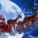 サンタさんのソリに乗って空中を走るVR動画